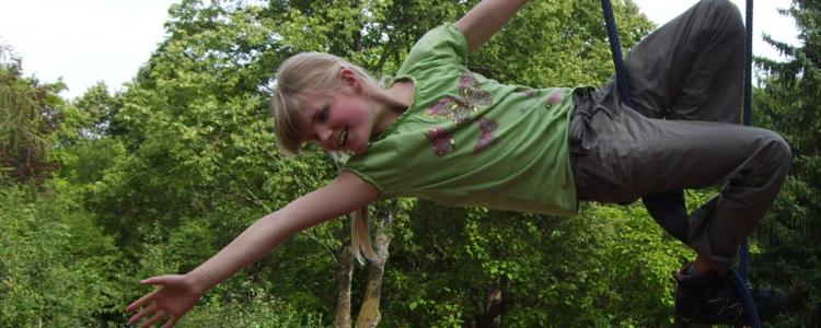 Akrobatik am Karussell